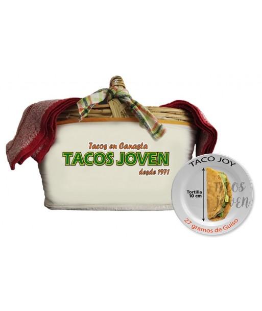 tacos en canasta , canasta con tacos joy