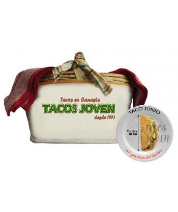 tacos de canasta junior para 15 invitados